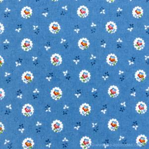 serviette de table tissu proven al bleue motif fleurettes. Black Bedroom Furniture Sets. Home Design Ideas