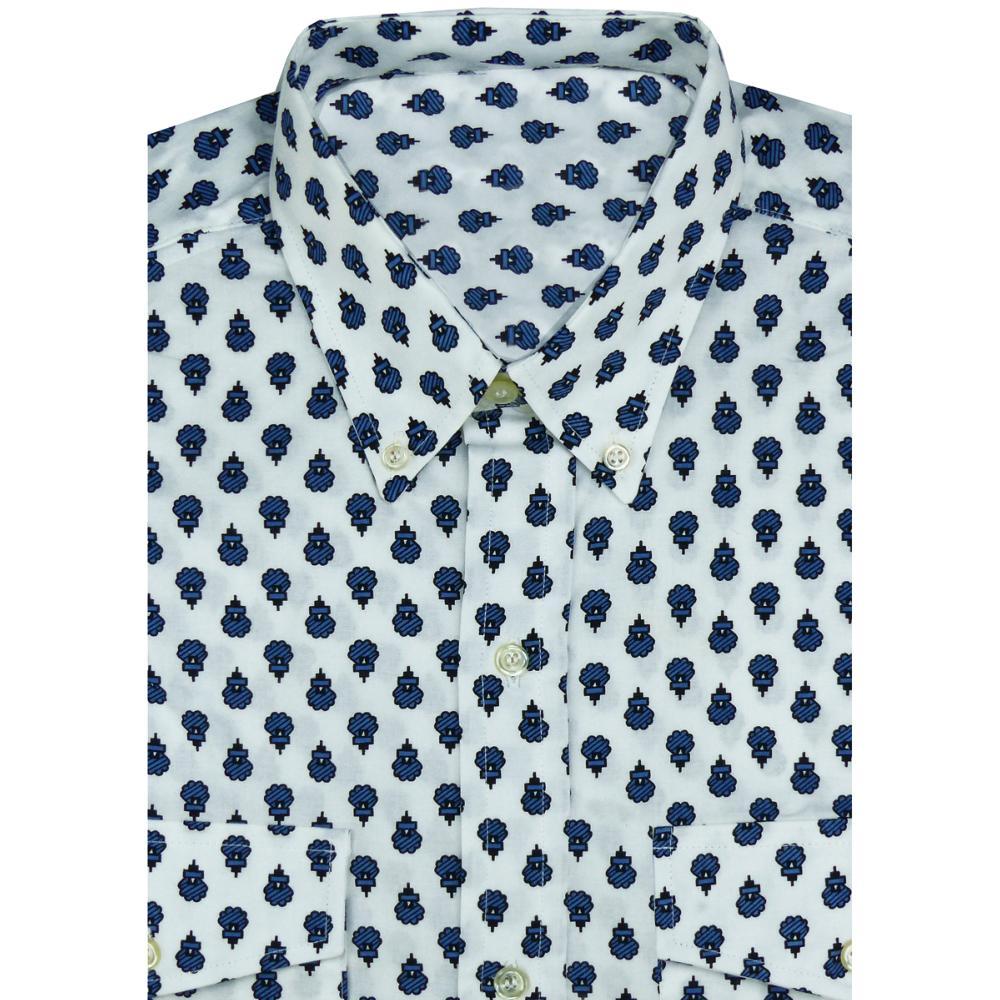 Cuisine Provencale Blanche Et Bleue chemise coton homme provençale blanc/bleu motif sixties