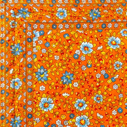 Tapis carré matelassé Printemps Orange 40x40cm
