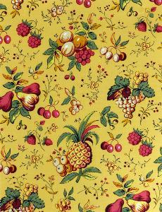 tissu de provence au m tre fruchi jaune fruits les olivades. Black Bedroom Furniture Sets. Home Design Ideas