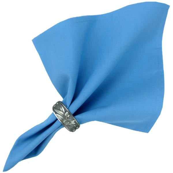 Serviette de table 100 coton unie bleue valdr me - Serviette de table tissu ...
