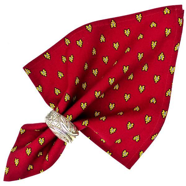 De Table Tissu Provençal Rouge Motif Abeilles