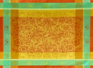 Set de table Jacquard Français Jaune Épis Oranges
