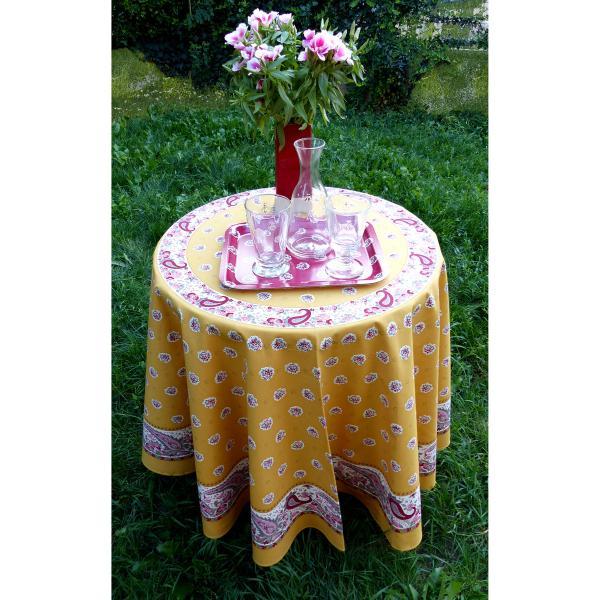 nappes provencales rondes table de cuisine. Black Bedroom Furniture Sets. Home Design Ideas
