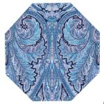 Set de table orignal octogonal bleu motif Calissons blancs