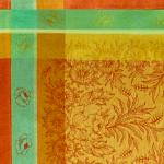 Lot de 4 Sets de table Jacquard Français Jaune Epis orange
