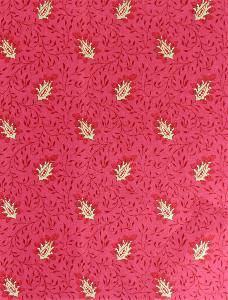 tissu de provence au m tre campano rouge feuilles les olivades. Black Bedroom Furniture Sets. Home Design Ideas
