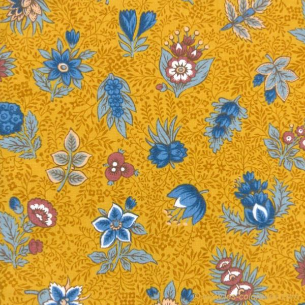 serviette de table tissu proven al moutarde motif floral. Black Bedroom Furniture Sets. Home Design Ideas