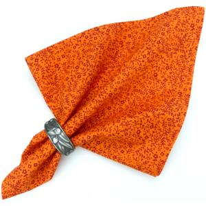 Serviette de table Provençale orange motif fleur de sel