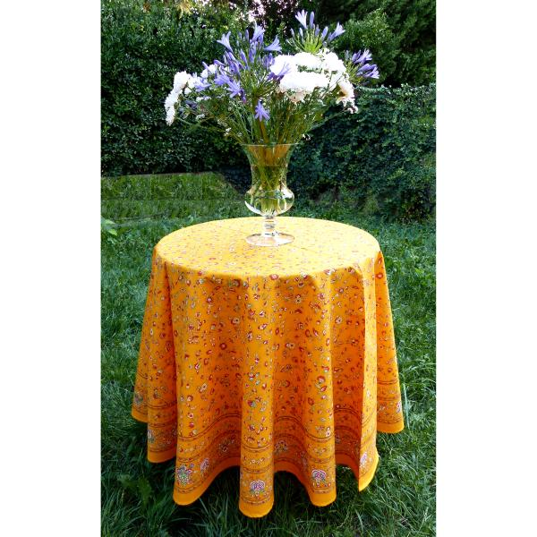 nappe ronde proven ale diam tre 180 jaune champ tre. Black Bedroom Furniture Sets. Home Design Ideas