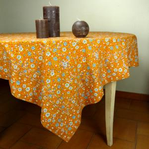 Nappe Carrée Provençale orange printemps