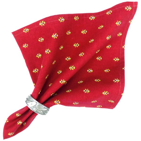 serviette de table tissu proven al rouge motif lavandin. Black Bedroom Furniture Sets. Home Design Ideas
