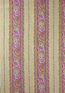 "Coupon galon Rose motif ""Cachemire"" 1,00 x 0,70 m"